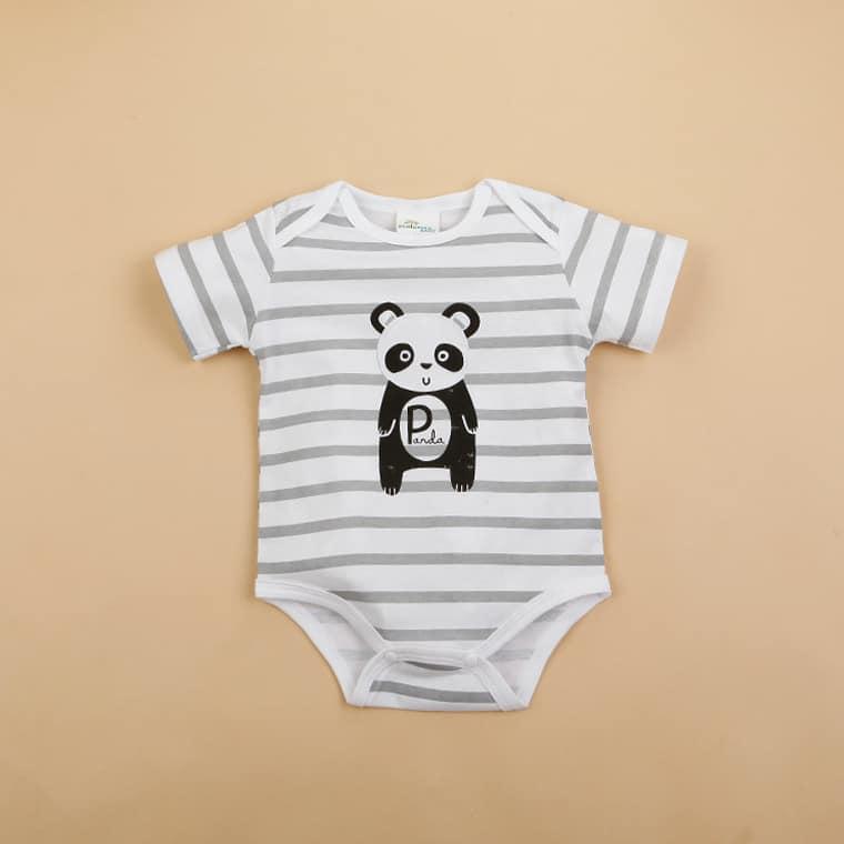 Hvid bodystocking med panda