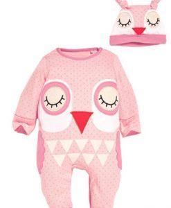 lyserød natdragt baby