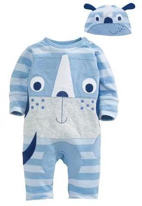 Blå baby natdragt